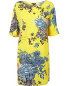 Topshop Lemon Lotus T-shirt Dress - Lyst
