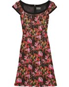 Zac Posen Abstract Printed Jersey Dress - Lyst