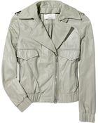 3.1 Phillip Lim Leather Bomber Jacket - Lyst
