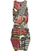 Zero + Maria Cornejo Zazi Tribal-Print Linen Dress - Lyst