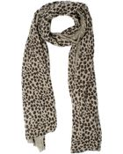Autumn Cashmere Leopard Printed Scarf - Wheat - Lyst