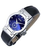 Versace Madison - Ladies' Black Round Dial Diamond Watch - Lyst