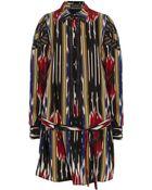 Thakoon Ikat-print Silk-crepe Shirt Dress - Lyst