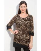 Alberto Makali Leopard Pattern Tunic - Lyst