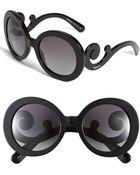 Prada Baroque Round Sunglasses - Lyst
