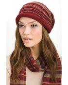 Tarnish Folk Knit Slouchy Cap - Lyst