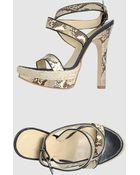 Twin-set Simona Barbieri Platform Sandals - Lyst