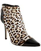 Jimmy Choo  Print Pony Hair Bidder Ankle Boots - Lyst