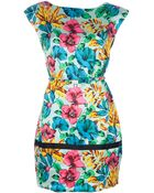 Marc By Marc Jacobs Printed Silk Dress - Lyst