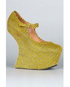 Jeffrey Campbell The Night Walk Shoe in Yellow and Black Hearts - Lyst