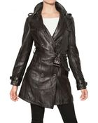 Burberry Brit Iverdown Nappa Leather Trench Coat - Lyst