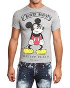 Philipp Plein Mickey Mouse Swarovski Jersey T-shirt - Lyst