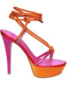 Rene Caovilla 130mm Satin & Swarovski Sandals - Lyst