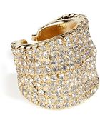 Dannijo Golden Swarovski Crystals Ring - Lyst