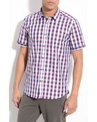 Ted Baker Check Plaid Woven Shirt - Lyst