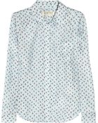 Textile Elizabeth and James Austin Rose-Print Silk Shirt - Lyst
