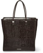 Burberry Prorsum Woven Leather Tote - Lyst