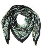 Balmain Black Eagle Print Scarf - Lyst