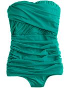 J.Crew Tulle Draped Bandeau Tank - Lyst