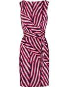 Diane von Furstenberg Printed Silk-Jersey Wrap Dress - Lyst