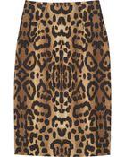 Giambattista Valli Leopard-print Cotton Pencil Skirt - Lyst