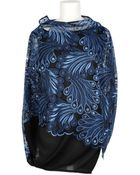 Junya Watanabe Top In Transparent Tulle Embroidered Of A Multicolored Pattern - Lyst