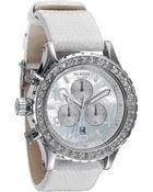 Nixon The 42-20 Chrono Crystal Bezel Snakeskin Strap Watch - Lyst