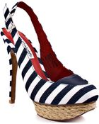 Naughty Monkey Overboard - Navy White - Lyst