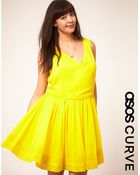 Asos Curve Dress With Cross Front - Lyst