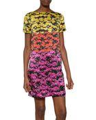 Mary Katrantzou Silk Satin Printed Dress - Lyst