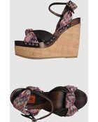 Missoni Wedge Sandals  - Lyst