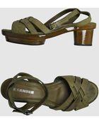 Jil Sander Platform Sandals - Lyst