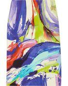 Lela Rose Printed Cottonblend Pencil Skirt - Lyst