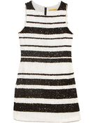 Alice + Olivia Alice Olivia Kimmy Beaded Stripe Sleeveless Dress - Lyst