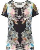 Preen By Thornton Bregazzi Scuba Printed Jersey T- shirt - Lyst