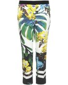Just Cavalli Tropical Print Trousers - Lyst