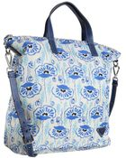 Prada Royal Blue Poppy Printed Nylon Gabardine Crossbody Tote - Lyst