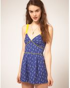 ASOS Collection Asos Playsuit in Anchor Print - Lyst