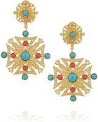 Kenneth Jay Lane Goldplated Cubic Zirconia Earrings - Lyst