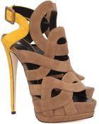 Giuseppe Zanotti  Colorblock Sandals  - Lyst