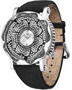 Juicy Couture Women'S Queen Couture Black Grosgrain Strap 43Mm 1900851 - Lyst