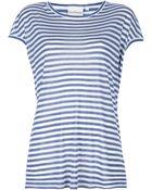 DKNY Long Striped Tshirt - Lyst