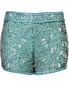 Topshop Premium Mint Embellished Shorts - Lyst