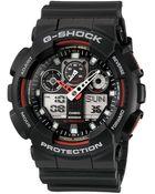 G-Shock Men'S Analog Digital Black Resin Strap Watch Ga100-1A4 - Lyst