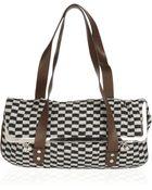 Marni Leather and Jacquard Shoulder Bag - Lyst