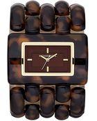 MICHAEL Michael Kors Rio Wide Bracelet Watch - Lyst