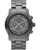 Michael Kors Dipped-dial Baguette Chronograph Watch - Lyst