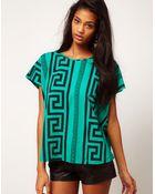 ASOS Collection Asos Tshirt in Block Print - Lyst