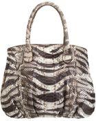 Zagliani Python Animalier Passage Handle Bag - Lyst