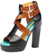 Michael Kors Colorblock Sandal - Lyst